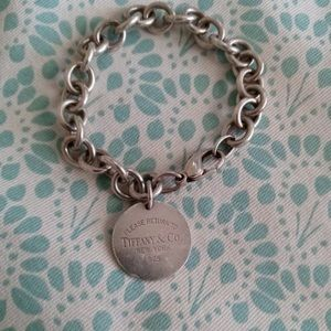 Tiffany and co RTT Round tag charm bracelet